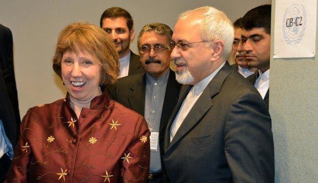 ظریف واشتون یتفقان علی استئناف مباحثات الخبراء بعد عطلة عید المیلاد