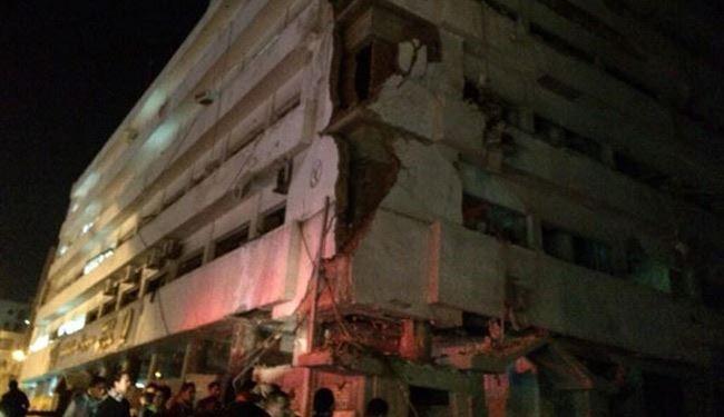 14 قتيلا واكثرمن مئة جريح بانفجار قرب مبنى للشرطة المصرية
