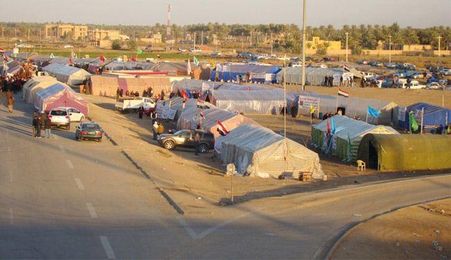 القوات العراقية تبدأ رفع الخيم من ساحة اعتصام الانبار