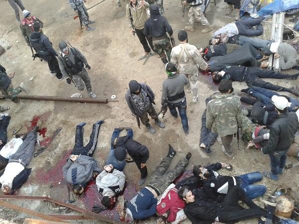 حقيقة صورة الإعدام الجماعي في حلب