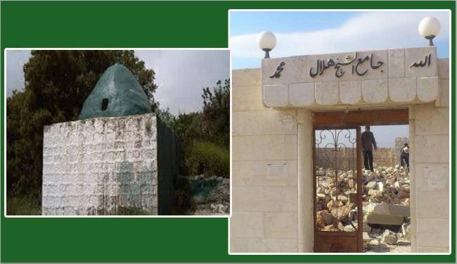 داعش تهدم مقام زوجة النبي ايوب بادلب وجامع الشيخ هلال بحلب