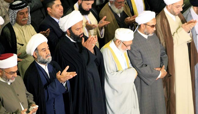تصاوير نماز جمعه مشترک شیعیان و سنی ها در عراق