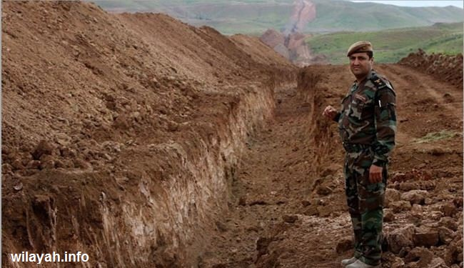 كردستان تحفر خندقا يبدأ من حدود سوريا وينتهي بحدود ايران