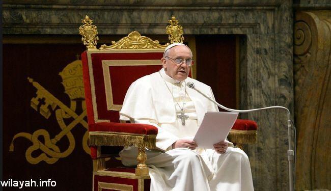 البابا فرنسيس:حرية التعبير لا تجيز اهانة معتقدات الاخرين