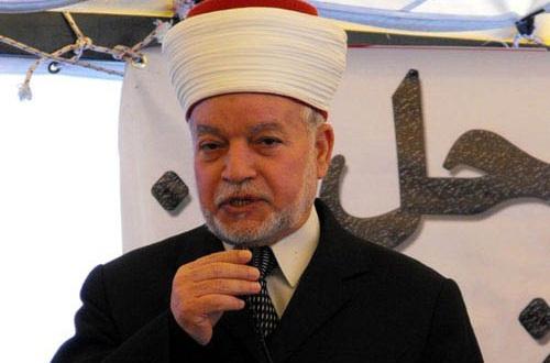 المفتى-العام-للقدس-والديار-الفلسطينية-خطيب-المسجد-الأقصى،-الشيخ-محمد-حسين،