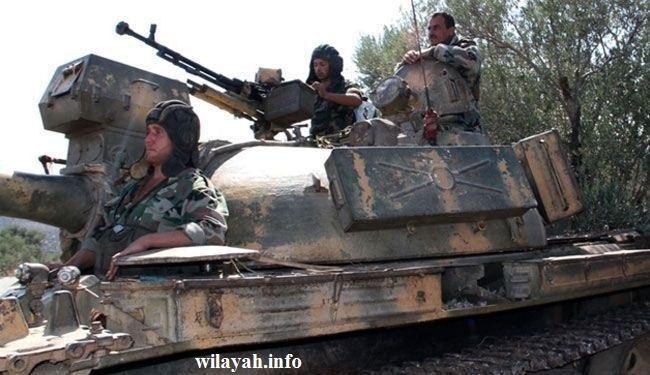 جيش سوريا يبيد اوكار وآليات المسلحين بارياف دمشق