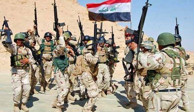 رفع العلم العراقي فوق مستشفى تكريت والمجمع الحكومي