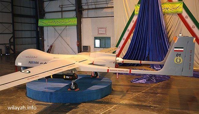 """إيران تزيح الستار عن """"فطرس"""" اكبر طائرة بدون طيار"""