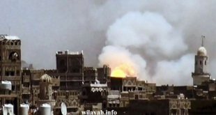 نزوح سكان جنوب صنعاء اثر إلقاء السعودية قنابل غازات سامة