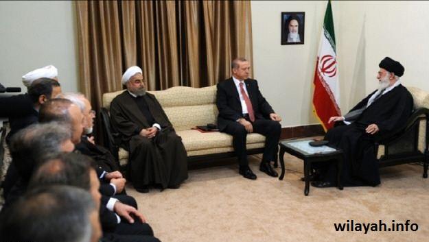 قائد الثورة الاسلامية يستقبل الرئيس التركي +صور