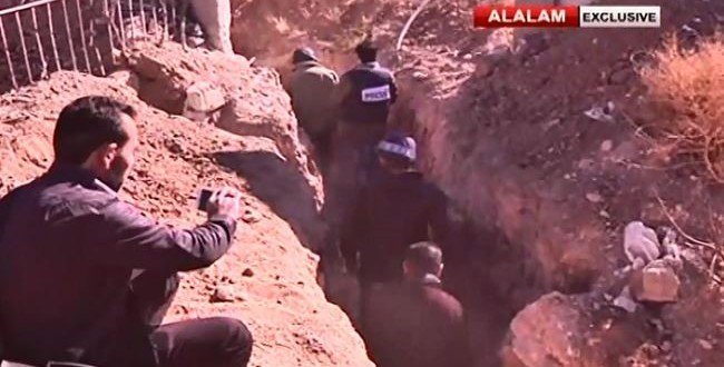 الجيش السوري يكتشف شبكة انفاق ويتقدم في داريا والمعضمية