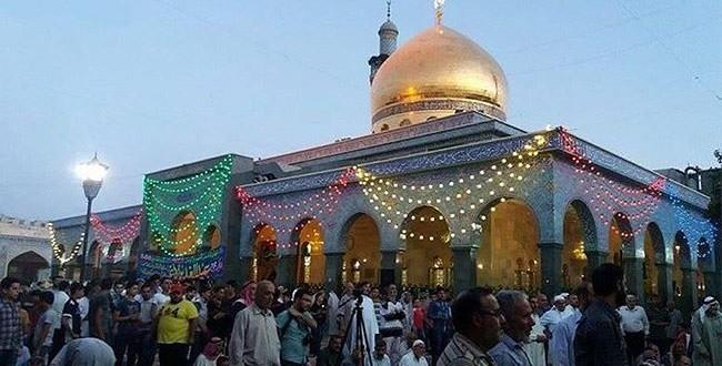 فيديو خاص، احتفال في مقام السيدة زينب (ع) بمناسبة عيد الغدير