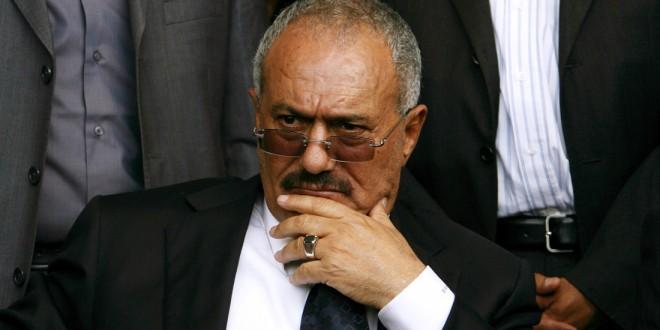 Yemeni President Ali Abdullah Saleh atte