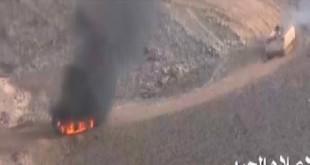 بالتفاصيل.. صواريخ تعالج مواقع سعودية بنجران وآليات هاربة!