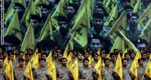 Shiite Muslims Hezbollah militants stand