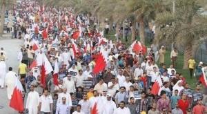 مسيرات بالبحرين في اولى ايام العصيان المدني