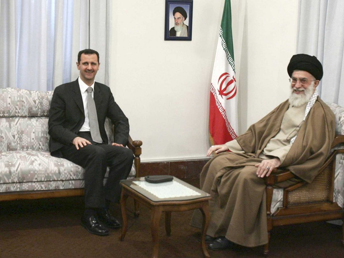 Syria's President Bashar al-Assad meets Iran's Supreme Leader Ayatollah Ali Khamenei in Tehran February 18, 2007